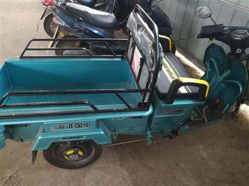 淮海电动三轮车,刚买一个月,证件齐全,因有事出售,15058004627