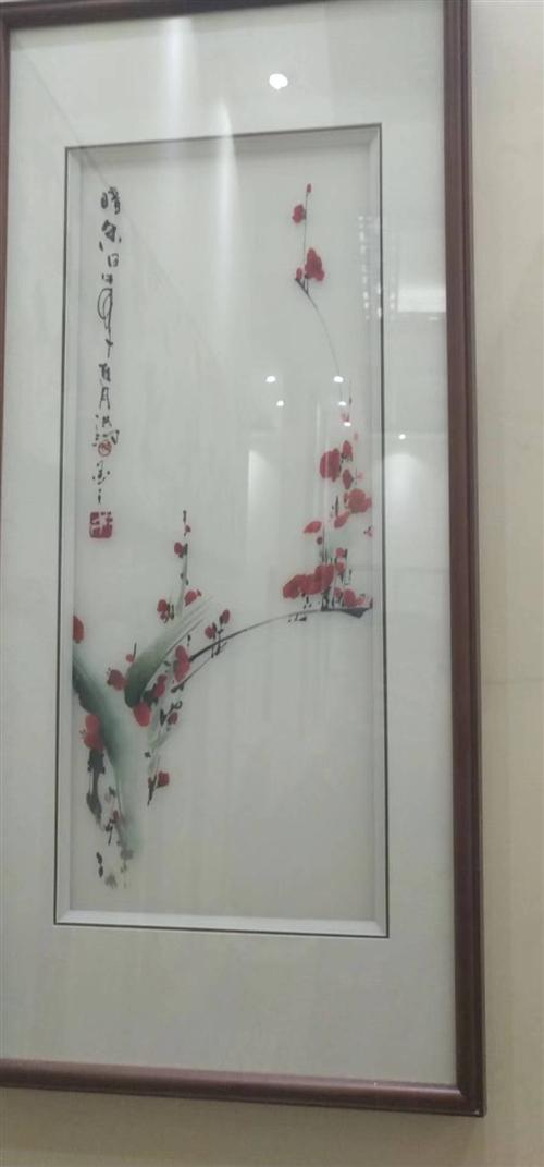 梅兰竹菊   见过和头发丝一样细的纯手工苏绣,原3800元外地带回来的,现因为房子欧式风格,痛割所爱...