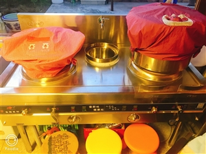 食堂或饭店用燃气灶,9成新,就用过4次。长度1米5,宽度80公分。仅支持同城自提!