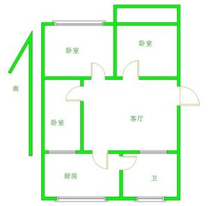 一小附近电力局家属楼3室 1 1卫52万元