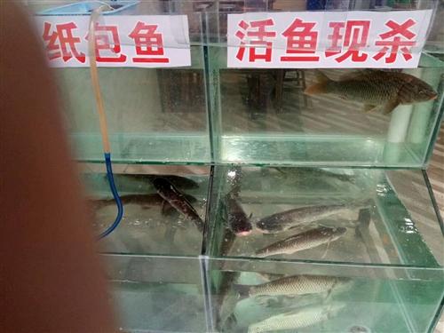 玻璃魚缸出售,帶氧氣泵。地址!豐禾