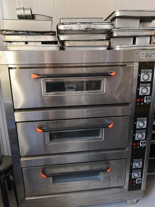 蛋糕店全套设备,包括中岛柜,风冷展柜,烤箱,发酵箱,和面机,烤盘等全套设备出售。 设备在额济纳旗,...