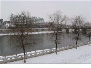 银装素裹潢川城  大雪外出多小心