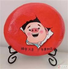 """勉县""""90后""""美女巧手绘丹青,石头上作画令人叹为观止!"""