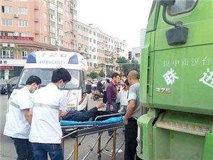 陕理工南门附近一渣土车与电动车相撞
