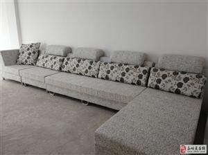 全新仿皮布艺沙发低价转让