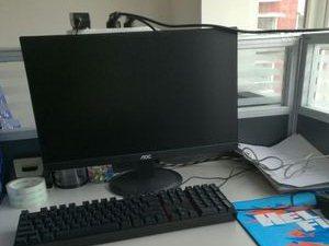 四核4g内存独立显卡联想主机21显示器
